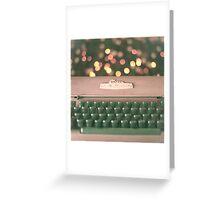 Typewriter and Magic Lights  Greeting Card