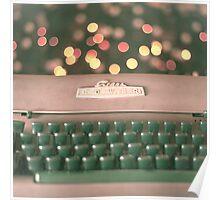 Typewriter and Magic Lights  Poster