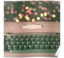 Typewriter and Magic Lights  Poster