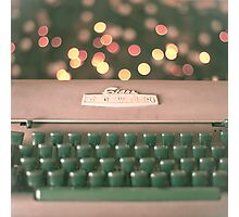 Typewriter and Magic Lights  Photographic Print
