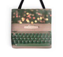 Typewriter and Magic Lights  Tote Bag