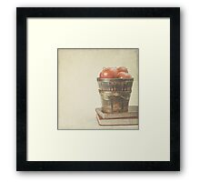 Old Books and Apples  Framed Print