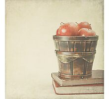 Old Books and Apples  Photographic Print