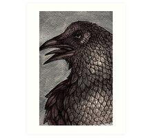 Old Raven Art Print