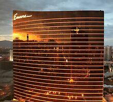 Las Vegas Strip Reflection by albyw