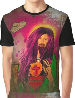 Keanu Jesus Antique Oil Graphic T-Shirt