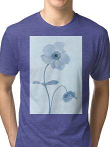 Cyanotype Windflowers Tri-blend T-Shirt