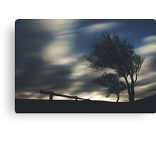 Trees & Clouds Canvas Print