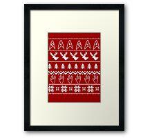 Ugly Christmas on USS Enterprise Framed Print