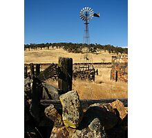 Abandoned Wind Mill and Farm, Telegraph City, CA 2012 Photographic Print