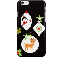 Cute Santa Snowmen Reindeer Baubles Festive iPhone Case/Skin