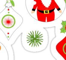 Cute Santa Snowmen Reindeer Baubles Festive Sticker