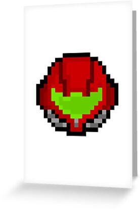 Retro Samus Aran Helmet  by PixelBlock