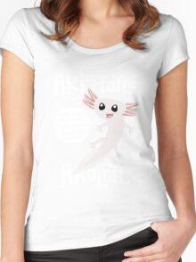 Aristotle Axolotl Women's Fitted Scoop T-Shirt