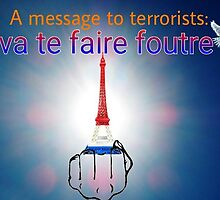 A MESSAGE TO TERRORISTS by WhiteDove Studio kj gordon