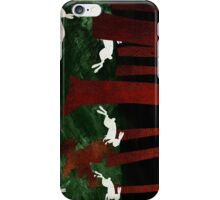 Panic  in the woods iPhone Case/Skin