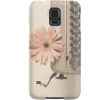 Soft Typewriter and Pink Flower  Samsung Galaxy Case/Skin