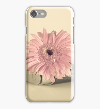Pink Flower and Camera  iPhone Case/Skin
