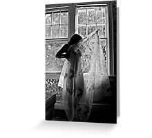 Image of Elation- Self Portrait- Abandoned Hotel, NY https://www.facebook.com/MJDPhoenixFoto  Greeting Card