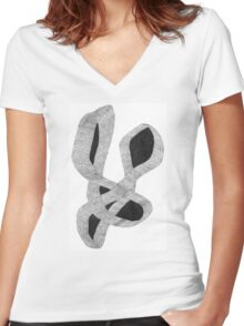 Intertwined Women's Fitted V-Neck T-Shirt