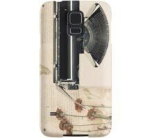 Retro Typewriter and Dried Flowers  Samsung Galaxy Case/Skin