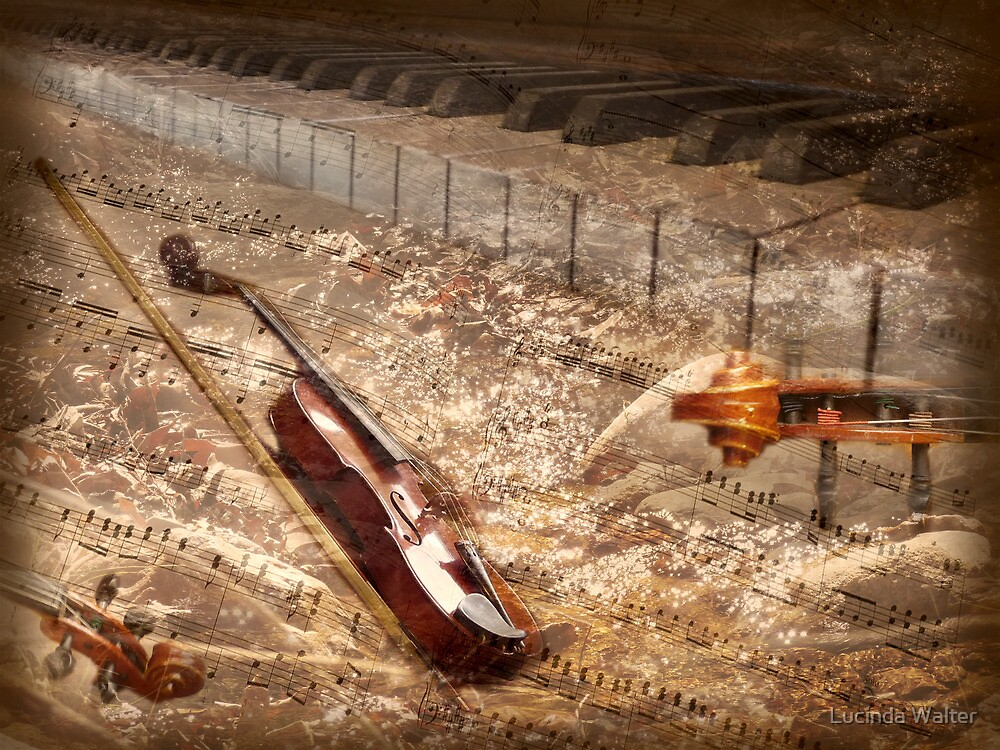 """Music Flows Like a River ~ """"When peace like a river attendeth my way . . .  it is well, with my soul!"""" by Lucinda Walter"""