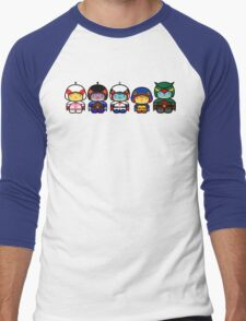 Chibi-Fi Gatchaman Men's Baseball ¾ T-Shirt