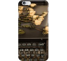 Typewriter, Tea and Dried Flowers  iPhone Case/Skin
