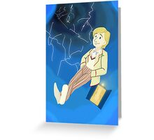 5th Doctor in th Time Vortex Greeting Card