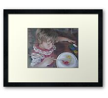 Little Artist Framed Print