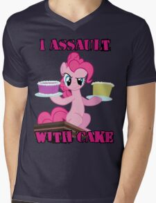 Pinkie Pie assaults with cake (My Little Pony: Friendship is Magic) Mens V-Neck T-Shirt