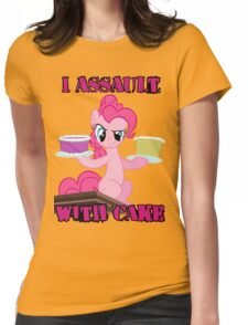 Pinkie Pie assaults with cake (My Little Pony: Friendship is Magic) Womens Fitted T-Shirt