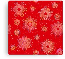 Seamless pattern for Christmas on red background Canvas Print