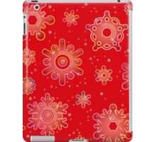 Seamless pattern for Christmas on red background iPad Case/Skin