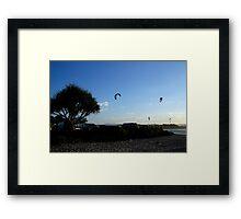 Kites and Car Park Currumbin Framed Print