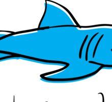 Eat The Patriarchy Feminist Shark Shirt Sticker
