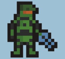 Super Pixel Master Chief Kids Clothes