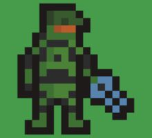 Super Pixel Master Chief by PixelBlock