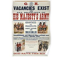 His Majestys Army vacancies exist 1469 Poster