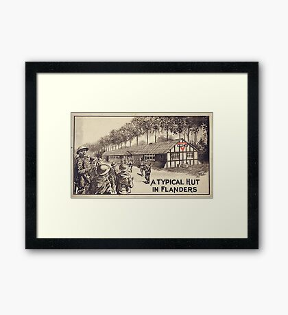 A typical hut in Flanders Framed Print