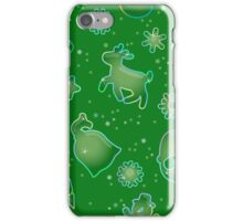 Seamless pattern for Christmas on green background iPhone Case/Skin