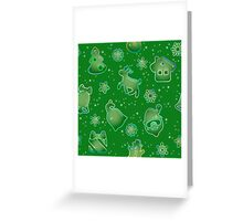 Seamless pattern for Christmas on green background Greeting Card