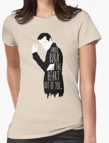 Out of you.  Womens Fitted T-Shirt