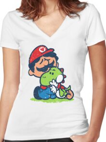 SUPER PALS! Women's Fitted V-Neck T-Shirt