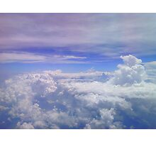 He Covers The Heavens With Clouds Photographic Print