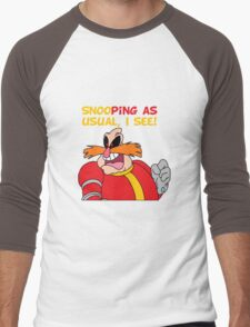 "Robotnik ""SnooPing As usual"" Men's Baseball ¾ T-Shirt"