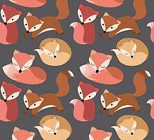 Woodland Fox Seamless Pattern by kennasato