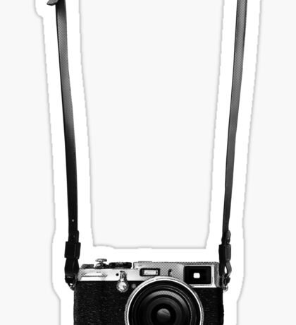 Vintage retro 35mm metal rangerfinder camera on isolated white background. Sticker
