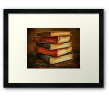 VINTAGE BOOKS Framed Print