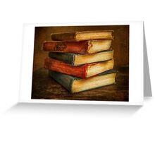 VINTAGE BOOKS Greeting Card